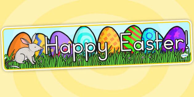 Easter Banner - easter, banner, easter display, religion, RE