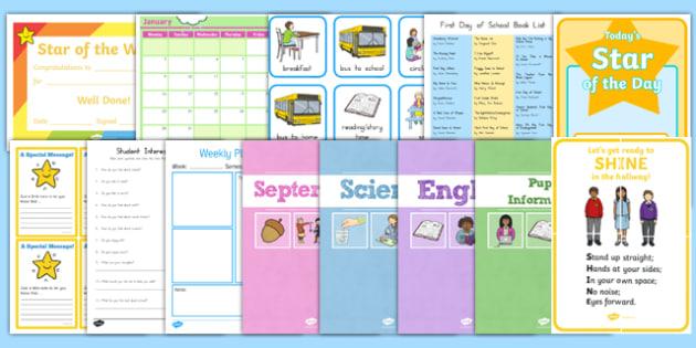 USA Teacher Class Management Folder Resource Pack