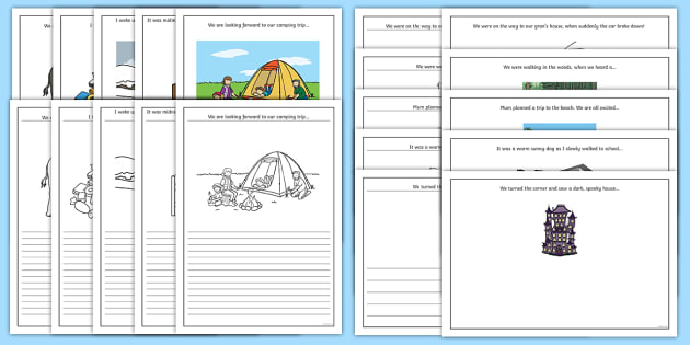 Story Starter and Picture Writing Frames - Narrative, journal, story writing, writing template, story map, story frame