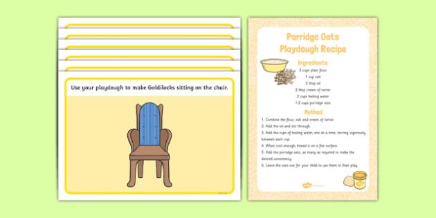 Goldilocks and the Three Bears Playdough Recipe and Mat Pack