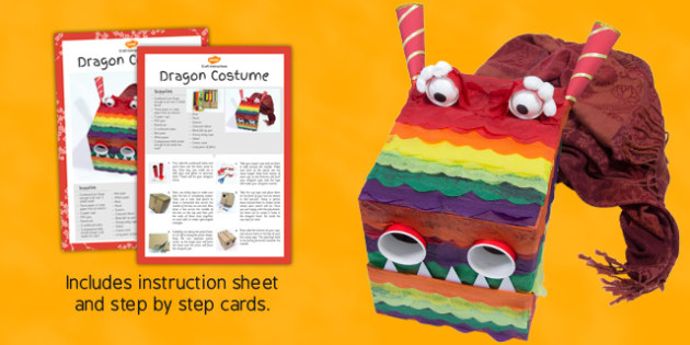 Dragon Costume Craft Instructions - craft, dragon, costume, instructions