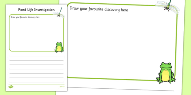 Pond Dipping Record Activity Sheet - pond dipping, pond life, record, activity sheet, worksheet