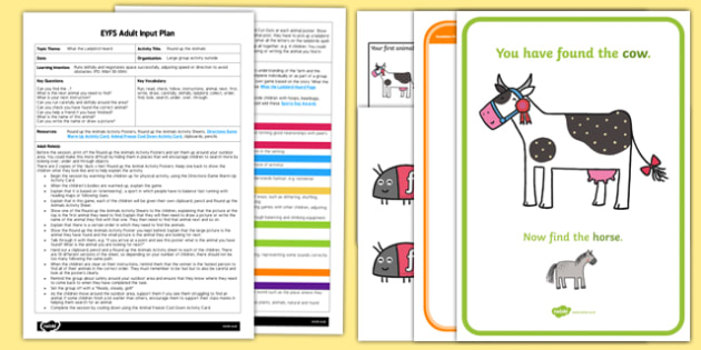 EYFS Round up the Animals Adult Input Plan and Resource Pack to Support Teaching on What the Ladybird Heard