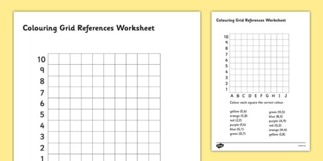 Colouring Grid References Worksheet - coordinates, coordinates worksheet, co-ordinates worksheet, find the coordinates, colouring coordinates, ks2 numeracy