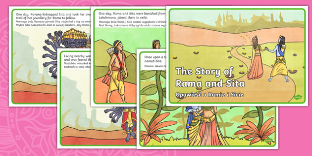 The Story of Rama and Sita Story English/Polish