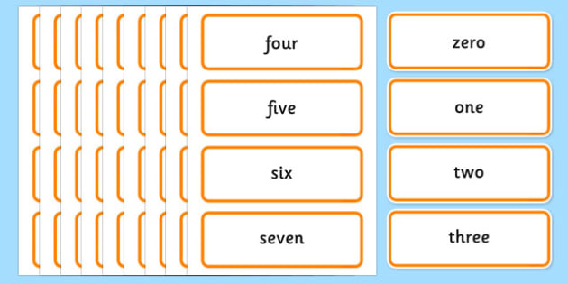 0 100 Number Words Word Cards - numeracy, number cards, maths