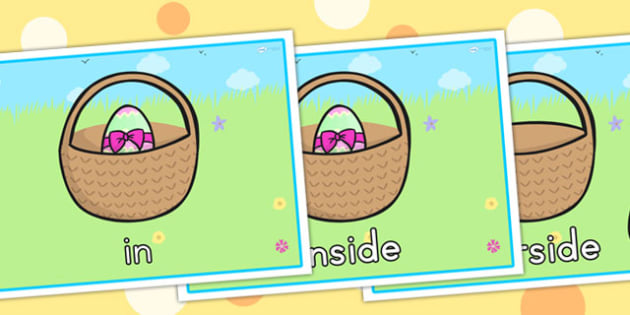 Easter Egg Positional Language Display Posters - easter, egg