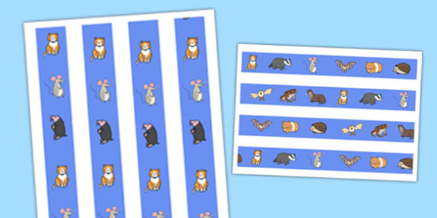 Nocturnal Animals Display Border - nocturnal animals, display border, display, border