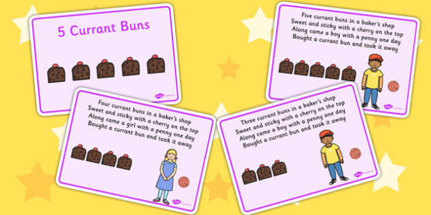 5 Currant Buns Story Sequencing Cards - sequencing, cards, story