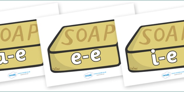 Modifying E Letters on Soap - Modifying E, letters, modify, Phase 5, Phase five, alternative spellings for phonemes, DfES letters and Sounds