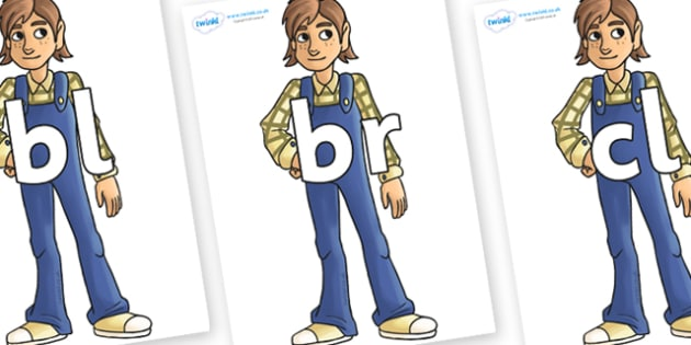 Initial Letter Blends on Hogarth - Initial Letters, initial letter, letter blend, letter blends, consonant, consonants, digraph, trigraph, literacy, alphabet, letters, foundation stage literacy