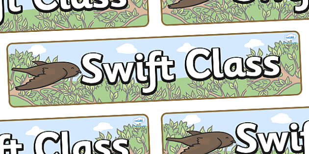 Swift Themed Classroom Display Banner - Themed banner, banner, display banner, Classroom labels, Area labels, Poster, Display, Areas