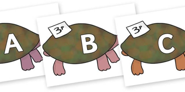 A-Z Alphabet on Turtle to Support Teaching on The Great Pet Sale - A-Z, A4, display, Alphabet frieze, Display letters, Letter posters, A-Z letters, Alphabet flashcards