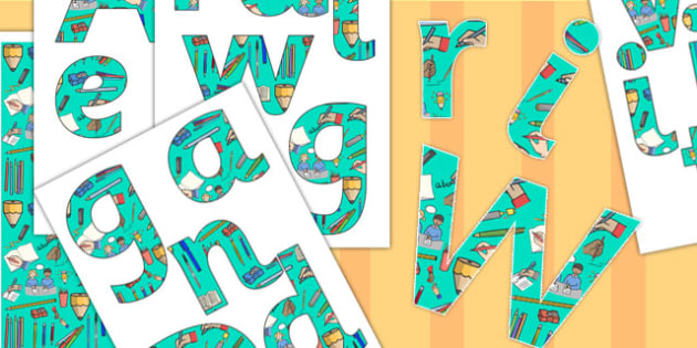 Paper-Saving 'Writing and Drawing Area' Lettering Pack - writing