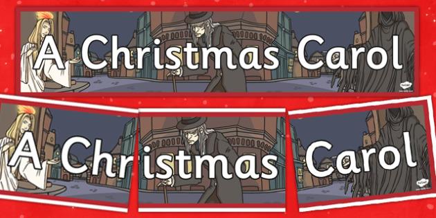 A Christmas Carol Display Banner - banners, displays, festivities, scrooge, Charles Dickens