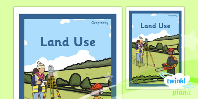 PlanIt - Geography Year 3 - Land Use Unit Book Cover - planit, book cover, year 3, geography, land use