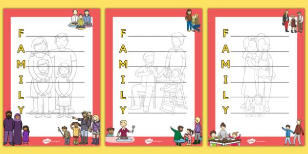Family Acrostic Poem - family, acrostic poem, acristic, poem, poetry, activity