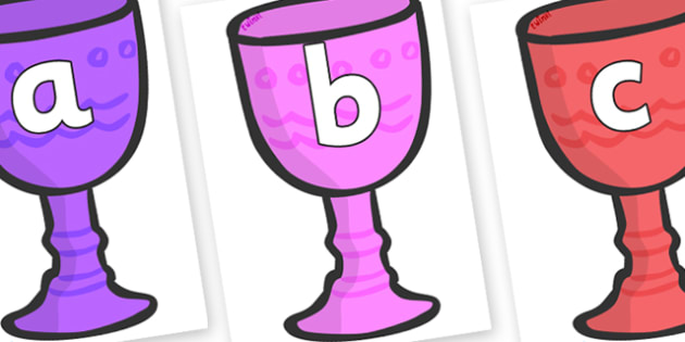 Phoneme Set on Goblets - Phoneme set, phonemes, phoneme, Letters and Sounds, DfES, display, Phase 1, Phase 2, Phase 3, Phase 5, Foundation, Literacy