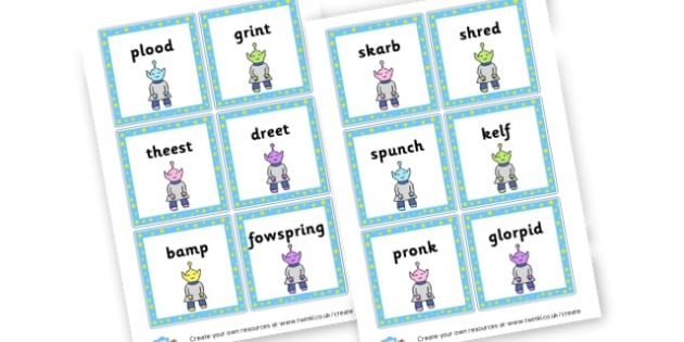 Phase 4 Nonsense Words Flashcards - DFE Letters and Sounds Phonics Screening Check Primary Resources