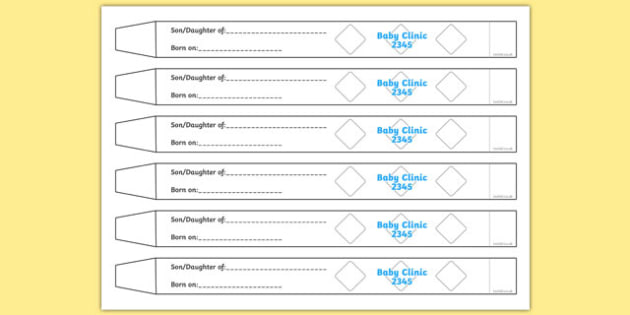 Baby Name Tag Labels - babies, baby names, name tags, roleplay