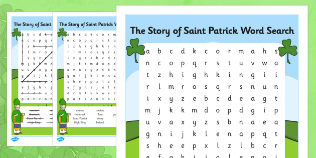 The Story of Saint Patrick Word Search - gaeilge, wordsearch, Saint Patrick, stories, vocabulary, stories