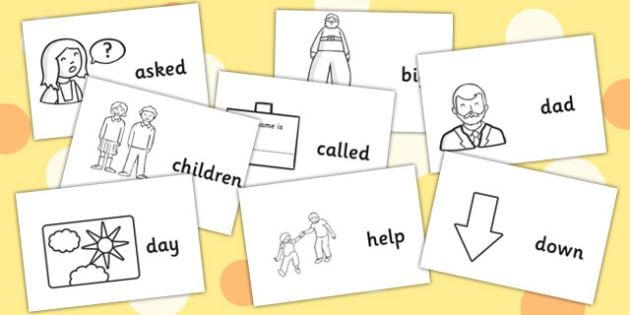 High Frequency Sight Word Cut Outs - high frequency words, cutout