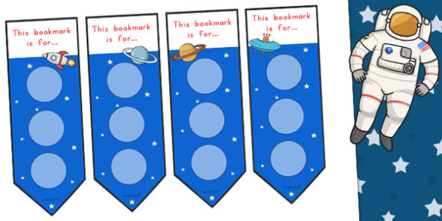 Space Large Sticker Reward Bookmarks - Stickers, Bookmark, Big