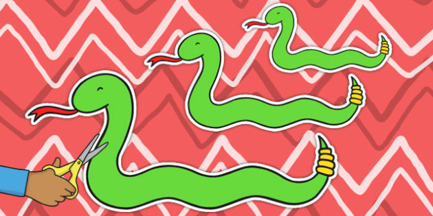 Snakes of Varying Lengths Cut Outs - snakes, cutout, reptile