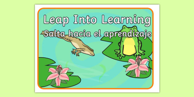 Leap Into Learning Motivational Poster Spanish Translation--translation