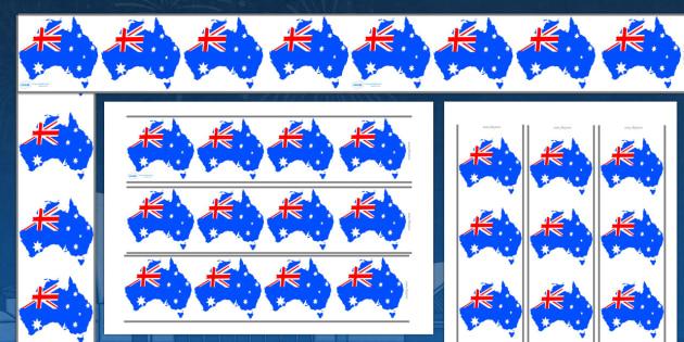 Australia Day Display Borders - display, dispaly border, border, austalia day, austalia day borders, australia borders, australia display borders, classroom display border, border for a display, edging, display edging