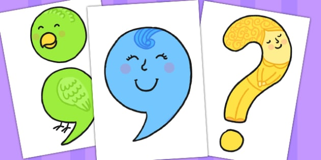 Punctuation Character Display Cut Outs - displays, characters