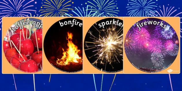 Bonfire Night Display Photo Cut Outs - bonfire night, festivals