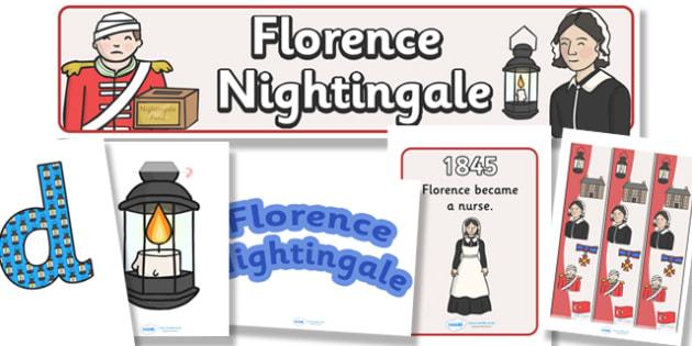 Florence Nightingale Display Pack - florence nightingale, display pack, display banner, resource pack, display lettering, resources, classroom display