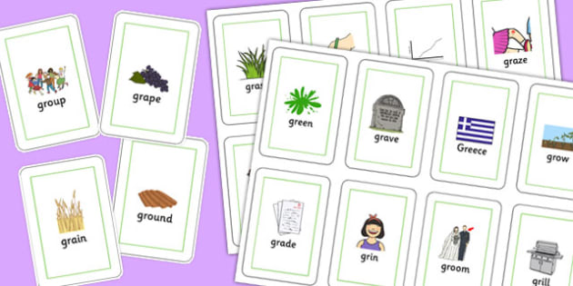 GR Playing Cards -speech sounds, phonology, articulation, speech therapy, cluster reduction, clusters, blends