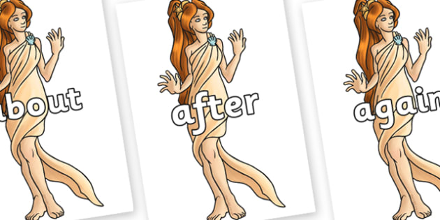 KS1 Keywords on Aphrodite - KS1, CLL, Communication language and literacy, Display, Key words, high frequency words, foundation stage literacy, DfES Letters and Sounds, Letters and Sounds, spelling
