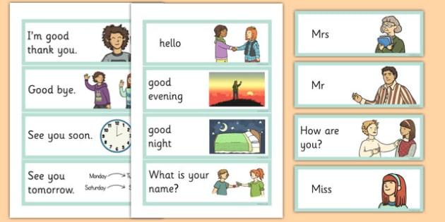 Greetings Flashcards English - english, greetings flashcards, flash cards, greetings