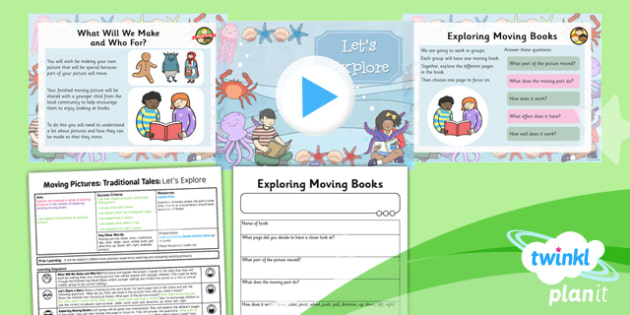PlanIt - Design and Technology KS1 - Moving Pictures: Traditional Tales Lesson 1: Let's Explore