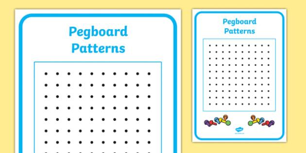 Peg Board Design Sheet - design sheet, peg, board, design, blank