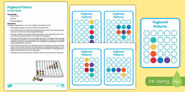 Pegboard Patterns Activity