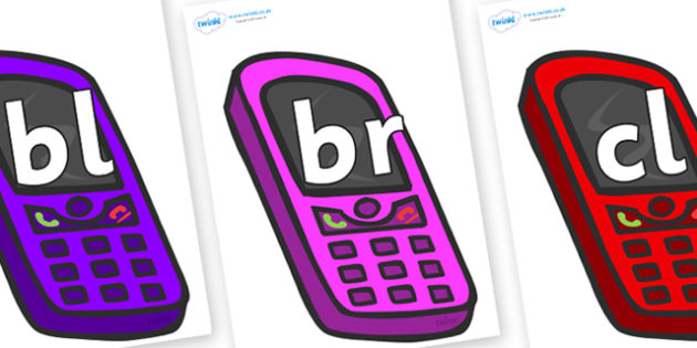 Initial Letter Blends on Mobile Phones - Initial Letters, initial letter, letter blend, letter blends, consonant, consonants, digraph, trigraph, literacy, alphabet, letters, foundation stage literacy