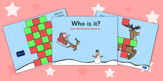 Who is it Christmas PowerPoint - christmas, powerpoint, christmas powerpoint, who is it powerpoint, christmas who is it, who is it christmas powerpoint