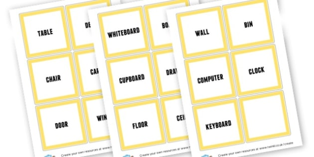 Classroom Object Labels - Classroom Labels Primary Resources, book label, resource label