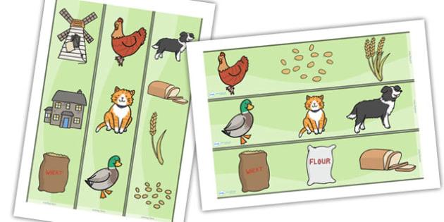 Little Red Hen Display Borders -  Little Red Hen, display border, classroom border, border, Traditional tales, tale, fairy tale, little red hen, cat, dog, horse, grain, wheat, flour, bread, no I, I will