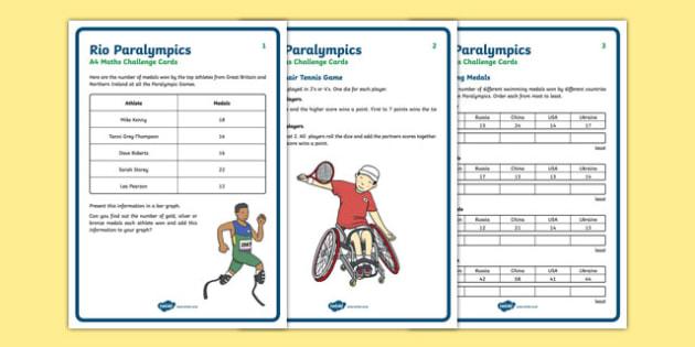 KS1 Rio Paralympics Maths Challenge Cards