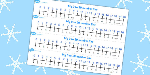 The Snow Queen Number Lines 0-20 - maths, numeracy, numbers, aids