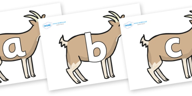 Phoneme Set on Goats - Phoneme set, phonemes, phoneme, Letters and Sounds, DfES, display, Phase 1, Phase 2, Phase 3, Phase 5, Foundation, Literacy