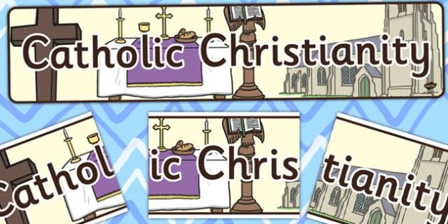 Catholic Christianity Display Banner CfE - display, banner, cfe