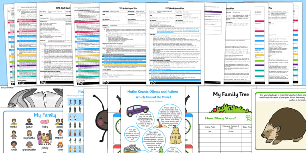EYFS Counts Actions or Objects Which Cannot be Moved Adult Input Planning and Resource Pack - Counts actions or objects which cannot be moved, counting, eyfs, early years planning, mathematics,