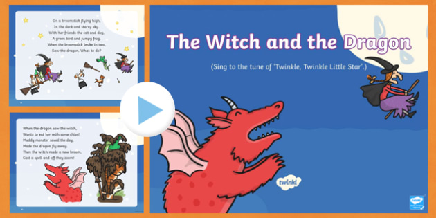 The Witch and the Dragon Song PowerPoint