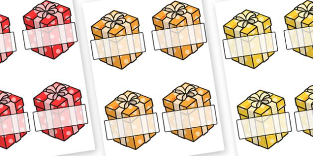 Christmas Editable Self Registration Presents - christmas, xmas, self registration, self-registration, editable, editable labels, editable self registration labels, presents, labels on presents, wrapped boxes, gifts, christmas presents, labels, regis